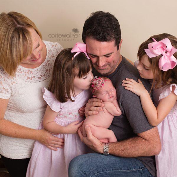 family of 5 newborn photographer
