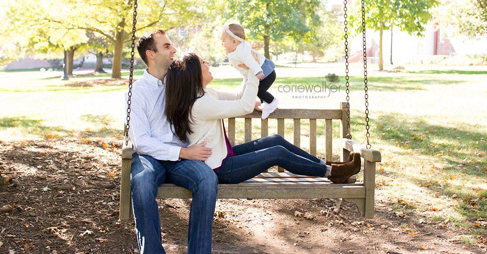 family photo tree swing