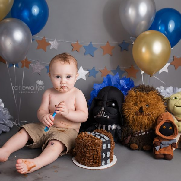 Star Wars first birthday cake smash