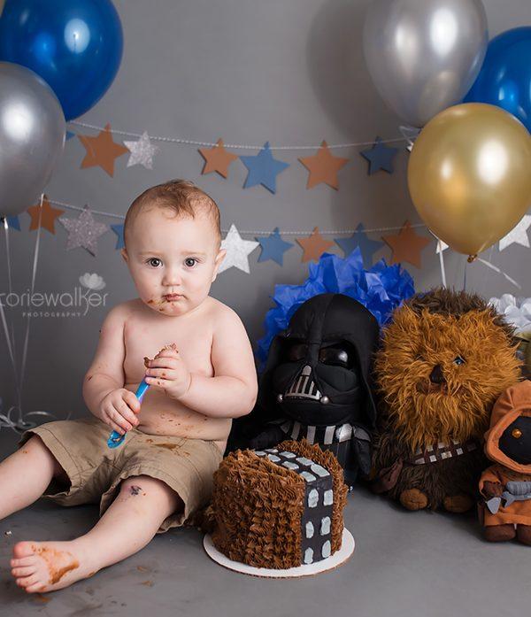 Star Wars First Birthday Cake Smash   Happy Birthday Jay