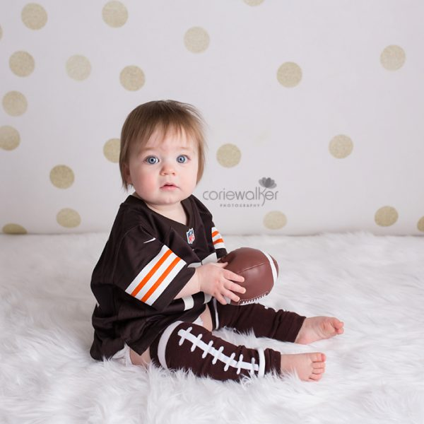 first birthday browns football theme