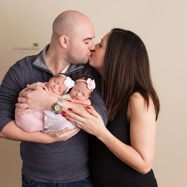 new parents and newborn twins