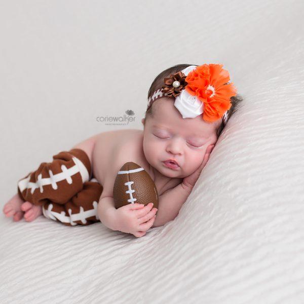 Browns Football Newborn Baby