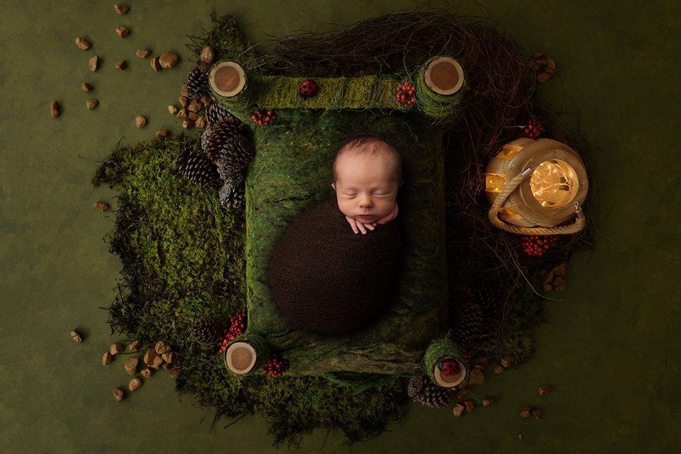 christmas newborn baby
