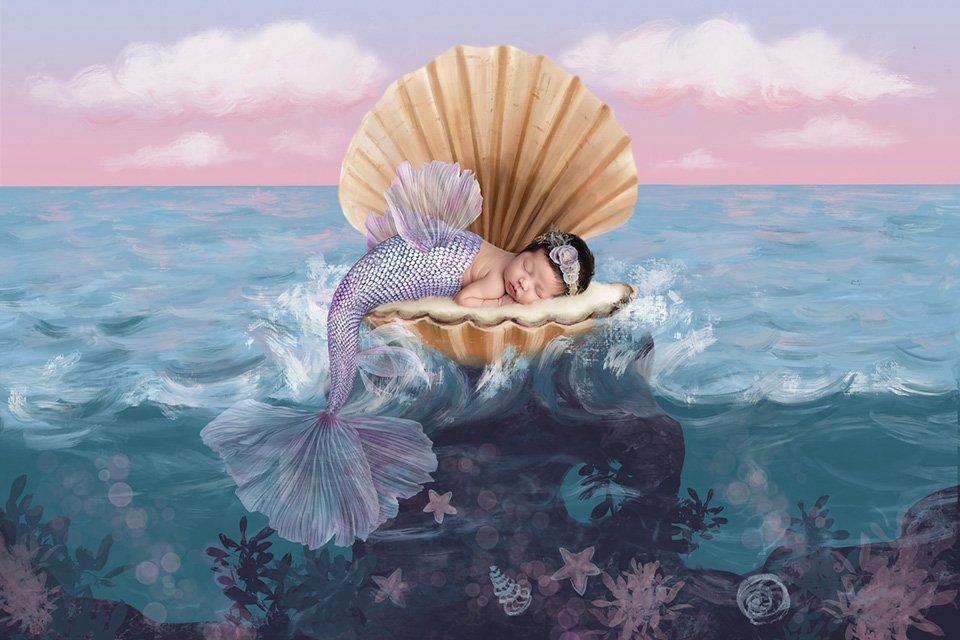 fairy tale mermaid newborn