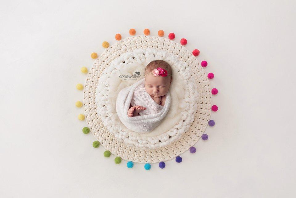 newborn rainbow dots