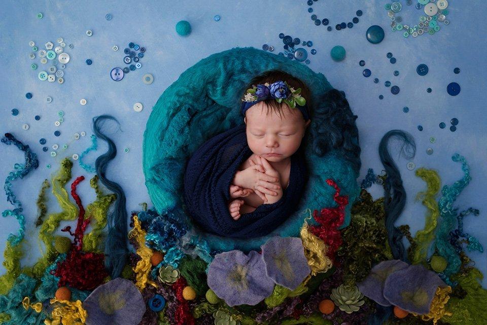 newborn under the sea theme