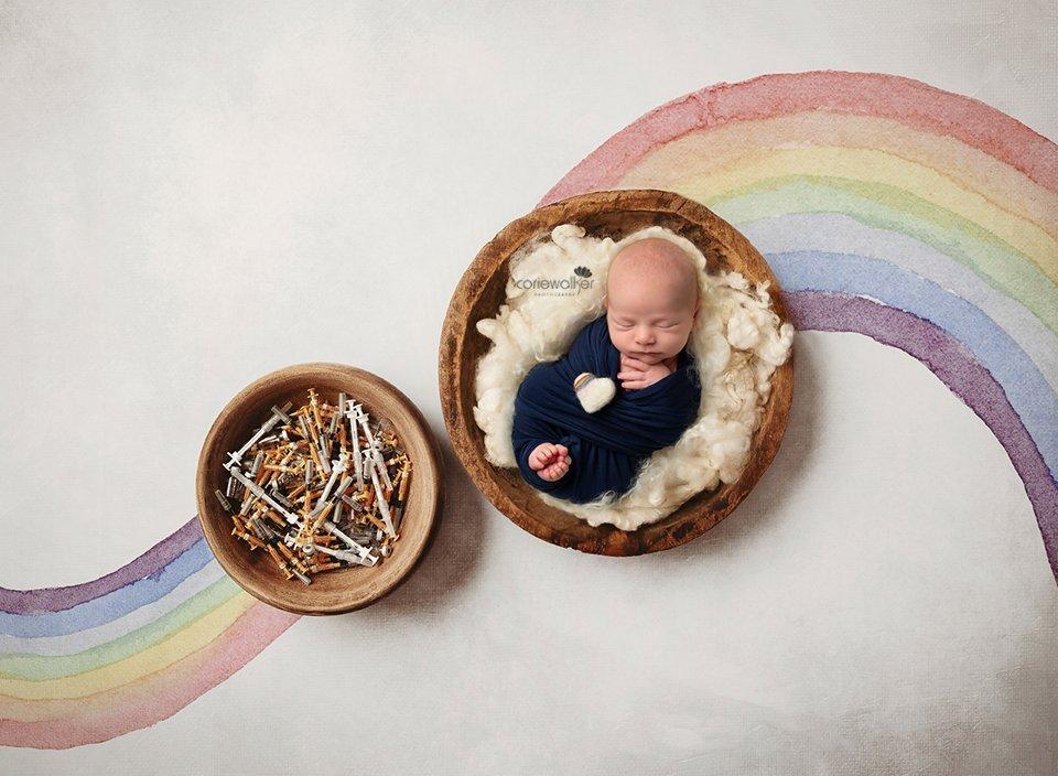 rainbow baby IVF photo