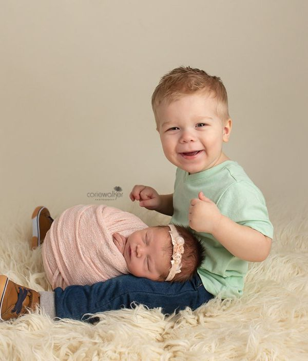 Big Brother With New Baby Sister | Ohio Newborn Photographer
