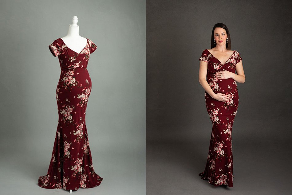 floral-red-maternity-gown
