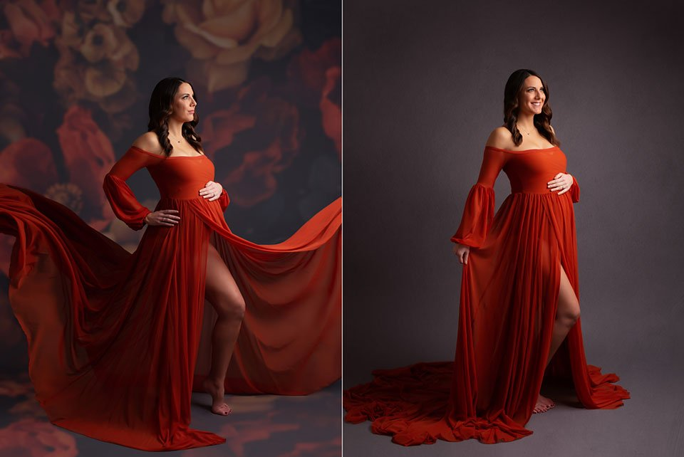 harlow maternity gown