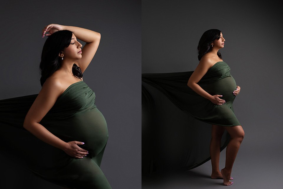 maternity studio portrait